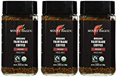 MOUNT HAGEN: The trailblazer of organic Fair Trade coffee production, the conscience of the global coffee industry BULK VALUE: Pack of six 3.53 ounce jars, 50 servings in every jar AWARD-WINNING: Mount Hagen consistently tops lists of best instant or...