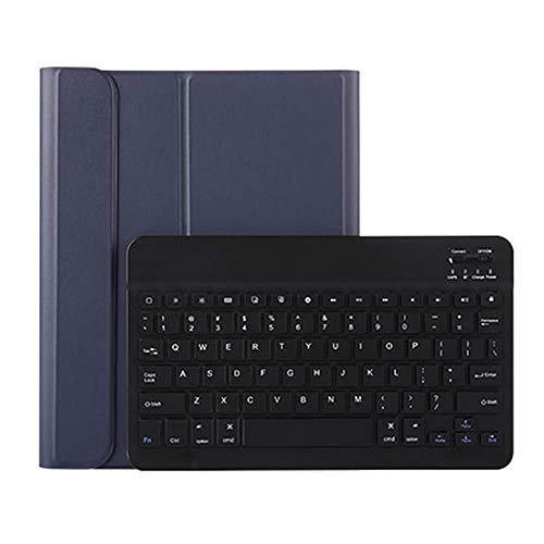 iPad Pro11 Bluetooth キーボード ワイヤレスキーボード 超薄TPUケース ペンシル収納付き ブルートゥース Bluetooth キーボード スタンド カバー 対応型番 A1980 A2013 A1934 (ネイビー)