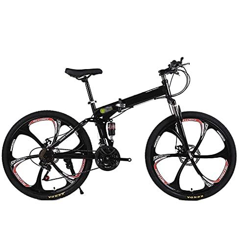 HUAQINEI Bicicleta 24/26 Pulgadas Aleación de Aluminio Bicicleta Plegable Bicicleta eléctrica Bicicleta de montaña Ciclismo de Carretera Bicicleta Uni, 27 velocidades, 24 Pulgadas