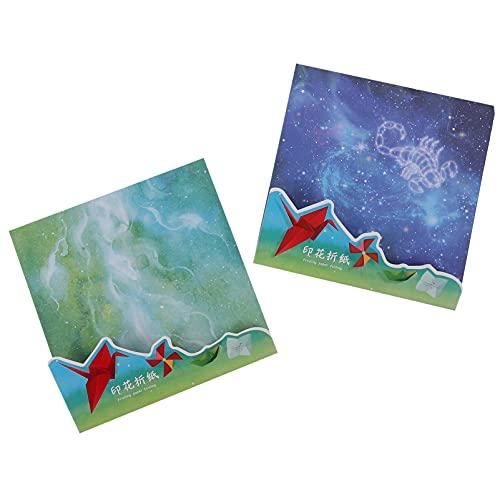 Artibetter 100 Piezas de Papel Origami Acuarela Galaxia Scrapbook Papel Premium Calidad Papel Cuadrado Hoja para Artes Y Artesanías