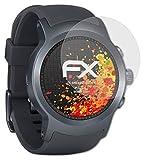 atFoliX Panzerfolie kompatibel mit LG Watch Sport Schutzfolie, entspiegelnde & stoßdämpfende FX Folie (3X)