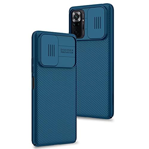 Funda para Xiaomi Redmi Note 10 Pro/Note 10 Pro MAX, Protección de la cámara Carcasa Cubierta de cámara Deslizante Proteger Ultra-Delgado Híbrida PC Anti-Choque Anti-arañazos - Azul