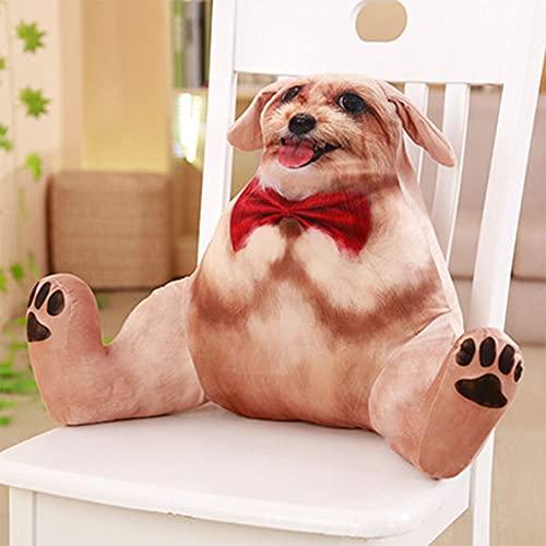 Simulación Lindo gato Lumbar silla almohada almohada lumbar silla almohada lectura respaldo cama cabeza almohada oficina almuerzo lindo mascota apoyo lumbar (tamaño: 19.5 x 17.7 pulgadas, color: D)