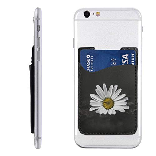 Daisy Petals Phone Card Holder, Stick-on ID Credit Card Wallet Phone Case Pouch Sleeve Pocket for iPhone, Android and All Smartphones