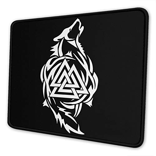 SWEETY Odin Thor Viking Tribal Norse Wolf Mouse Pads Non-Slip Gaming Office Mouse Pad Rubber Mouse Pad Gaming and Other Entertainment