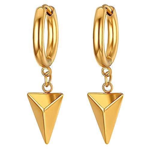 Pendientes Huggie Hinged Beauty Uniex Con Pendiente Colgante De Triángulo Geométrico Para Hombres Mujeres