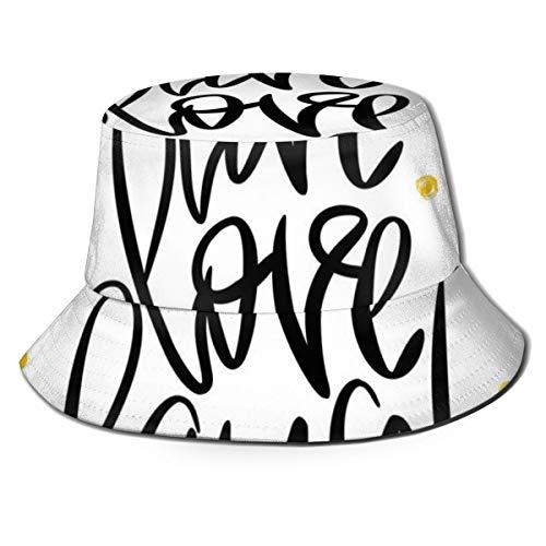 SUHETI Sombrerode Pescador Visera,Letras estilizadas de la Mano en Frase Inspirada de Fondo Punteado,con Gorra Protección contra Sol UV Transpirable Sombrero