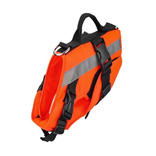 Balacoo Gilet de Sauvetage Chien Gilet de sécurité Chien Maillot de Bain pour Animal de Compagnie Gilet Taille m Orange