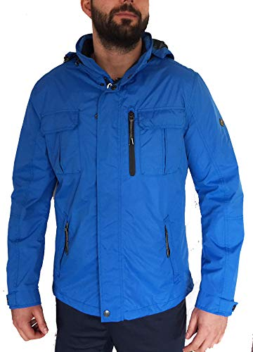 ROADSIGN Herren Übergangsjacke Jacke hellblau blau Blue Funktionsjacke Regenjacke atmungsaktiv Winddicht wasserdicht (52)