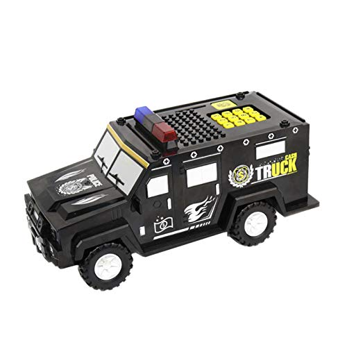 XCZQ HY16 Bloque de construcción Hummer Truck Bank Piggy Bank Música eléctrica...