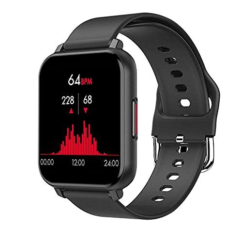 YLB Smart Watch Fitness Tracker con Ritmo cardíaco Presión Arterial Monitoreo de oximetría 1 55 Pantalla táctil IP67 Pedómetro Impermeable Tracker (Color : C)