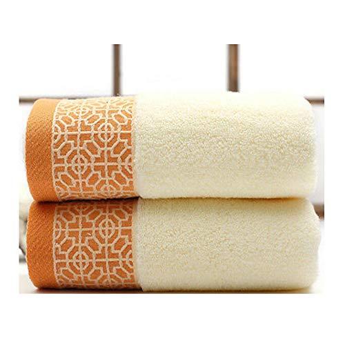 Verdikte katoenen badhanddoeken voor volwassenen strandbadkamer Extra sauna voor thuis Hote Sheets Handdoeken geel 74x33cm
