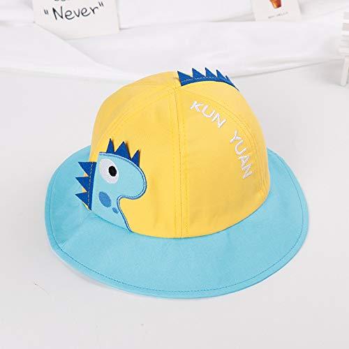 mlpnko Bonnet bébé Chapeau visière bébé visière garçons et Filles marée Version Chapeau de pêcheur Jaune 50cm