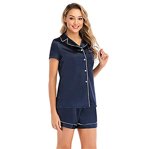 Pijamas Mujer Sedoso Conjuntos de Pijamas Camisones Manga