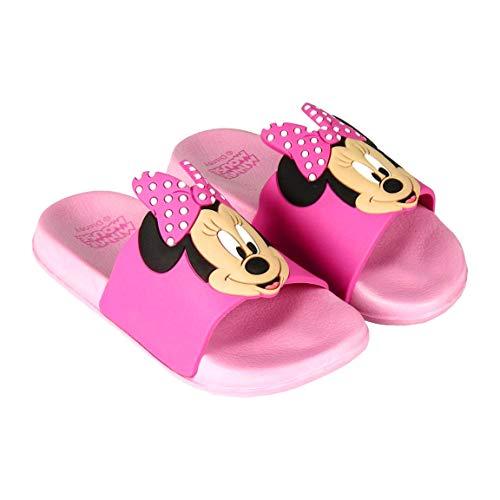 Badelatschen Kinder Mädchen Minnie Mouse Disney   Geprägte Details   Rosa   Größen von 24 bis 31 (Numeric_26)