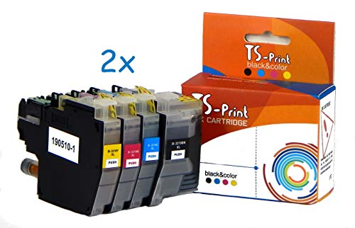 TS-Print 8er-Set Tintenpatronen LC3219XL Kompatibel für Brother LC-3219 XL 2BK/2C/2M/2Y MFC-J5330DW MFC-J5730DW MFC-J5830DW MFC-J5930DW MFC-J6530DW MFC-J6730DW MFC-J6930DW MFC-J6935DW