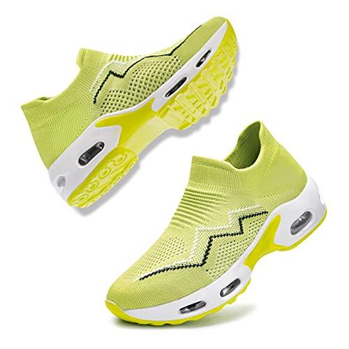 Fenlern Zapatillas de Seguridad Mujer,Ligeras S1 Zapatos de Seguridad Trabajo Punta de Acero Calzado de Seguridad con Colchón de Aire (Monasterio,37 EU) 🔥
