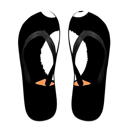 Pinguin Muster Unisex Erwachsene Casual Flip-Flops Sandale Pool Party Hausschuhe Badezimmer Wohnungen Open Toed Slide Schuhe S