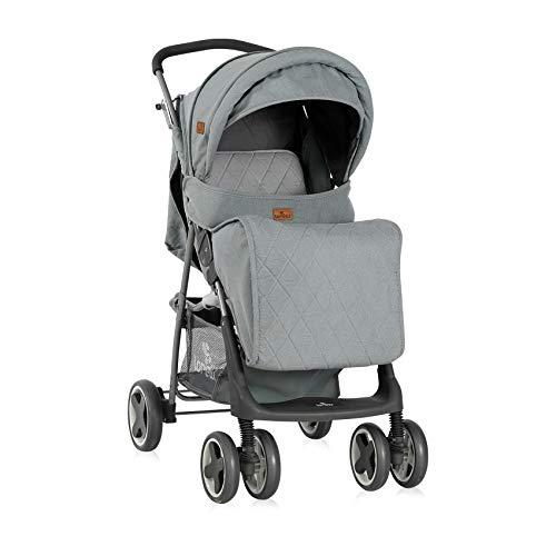 Lorelli kinderwagen Buggy Terra, tafel voetafdekking draaibare voorwielen mand grijs