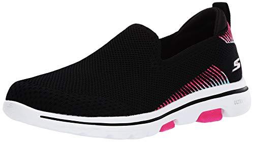 Skechers Women's GO Walk 5-PRIZED Sneaker, Black/Multi, 9 M US