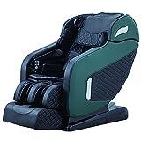 Lzour Silla de Masaje de Gravedad Cero con SL Dual-Rail Cuerpo Entero Envuelto Airbag Squeeze Masaje 3D Manipulador Atrás Calefacción termostática,Verde