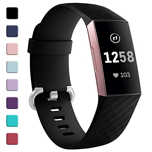 Zekapu voor Fitbit Charge 3 Bandje, Verstelbare Klassieke Vervangende PolsBandje Vrouwen Mannen Bandje Compatibel voor Fitbit Charge 3/Charge 3 Special Edition
