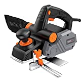 Planer, TACKLIFE Power Hand Planer, 7.5-Amp, 14500Rpm 3-1/4-Inch, with 1/96' to 1/8' Adjustable Cut Depth, 2-Side Blow Chips, Parallel Fence Bracket, Ideal Wood Planer for Home DIY - EPN02A
