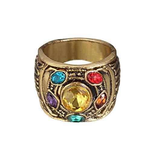 PPX Thanos Infinity Anillo de Piedra de Alma de la Guerra Infinita Anillo de Oro para Disfraz de Cosplay