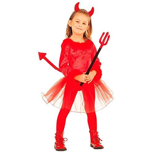 Widmann-Diavolessa Costume per Bambini, Multicolore, (104 cm / 2-3 Anni), 07460
