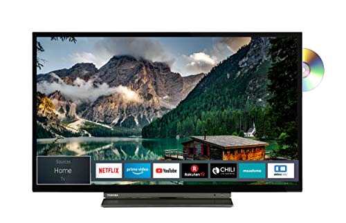Toshiba 32WD3A63DA (32 Zoll) Fernseher (HD ready, Triple Tuner, Smart TV, Prime Video, Bluetooth, Works with Alexa, DVD-Player integriert)