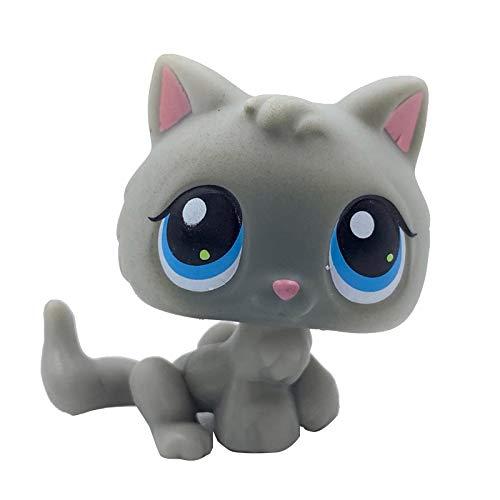 LPS CAT Rara Original Pet Shop Juguetes gato #47 Amarillo Claro Bebé Kitty Lindo Animal Gatito para Niñas Colección
