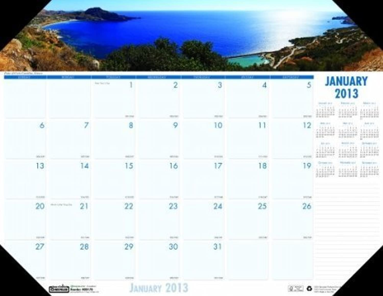 HOD1786 - Coastlines Photographic Monthly Desk Pad Pad Pad Calendar by House Of Doolittle B018OQBCU8 | Räumungsverkauf  07af87