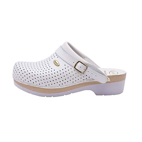 Scholl Gamme Professionnelle Clog SUPERCOMFORT Woman Blanc 38