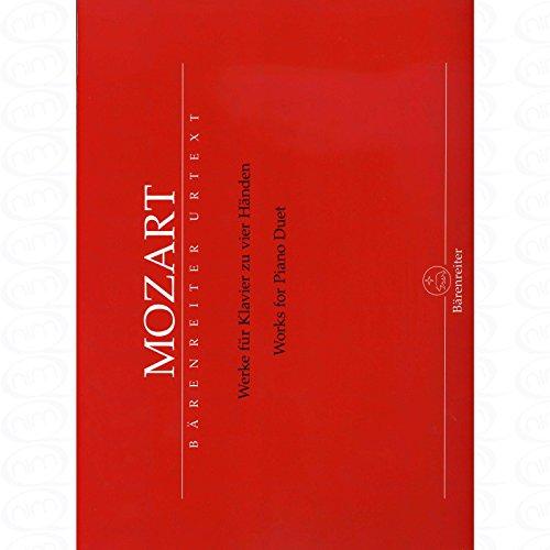 WERKE FUER KLAVIER ZU 4 HAENDEN - arrangiert für Klavier 4händig [Noten/Sheetmusic] Komponist : MOZART WOLFGANG AMADEUS