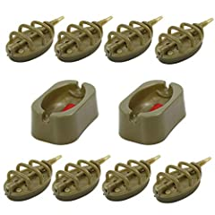 8 inline method feeders+2 rubber mould 1 Quick Release Mould Cap fits for 8 kinds of weight in Packaging (15g,20g,25g,30g,35g,40g,50g,60g) Subtle Flatbed Design Makes them Ideal for All Situations Mould Carp internal size: 2.2inch x 1.34inch ( L x W ...