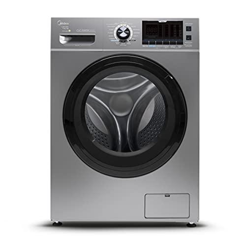 Lava e Seca Midea 12kg Storm Wash Inverter Porta Preta Tambor 4D, Prata (127V)