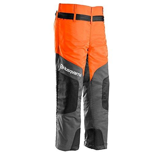 Husqvarna Schnittschutzhose (Chainsaw Protective Pants Classic 20A Chainsaw Protective Pants 54grau, orange, grau, orange, Einfarbig, Polyester, Class 1(20m/s), CE)