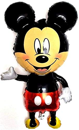 SauParty XXL Helium Folienballons Disney Micky Maus Figur Minnie Geburtstag Party Balloon, Form:R42F1 Micky Figur
