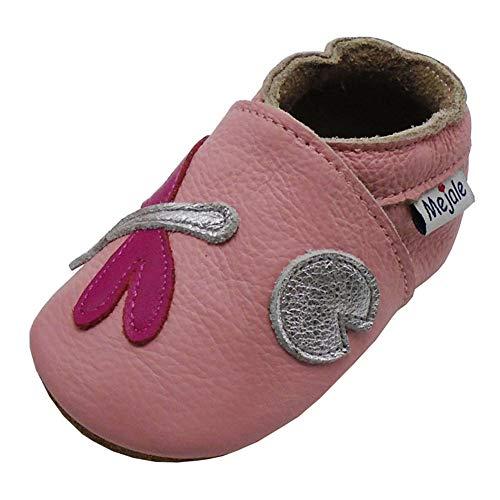 Mejale Caricature Cuir Chaussures bébé Chaussons bébé Chaussures pour Enfants Chaussons - - Rose, Libellule, 6-12 Mois