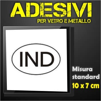 IND India (sw) sticker ovaal voor auto & Moto & vrachtwagen