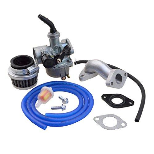 GOOFIT Carburador Minimoto, PZ19 con Filtro de Aire 35mm con Tubo Combustible Kit de Admision para XR CRF 50cc 70cc 90cc 110cc 125cc Pit Bike Scooter y Ciclomotor ATV Quad Azul