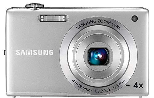 Samsung ST ST60 Kompaktkamera 12,4 MP 1/2.33 Zoll CCD 4000 x 3000 Pixel Silber - Digitalkameras (12,4 MP, 4000 x 3000 Pixel, CCD, 4X, HD, Silber)