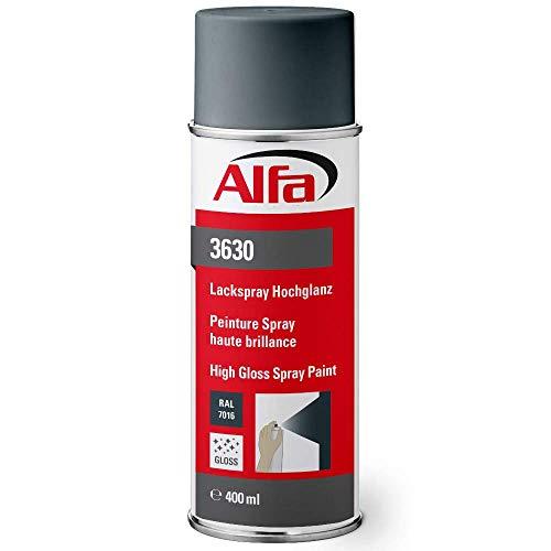 Sprühlack RAL 7016 Anthrazit 1 x 400 ml Hochglanz für innen und außen - Lackieren und Dekorieren, hohe Deckkraft Farbspray, Sprühdose, Made in Germany