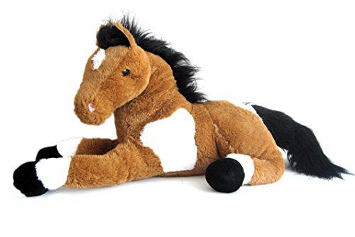 Sweety Toys 5840 Energie Pferd,braun,harmonisierend, mit positiver Energie energetisiert,Stofftier Plüschpferd Fohlen 70cm XXL Pferd Kuscheltier Wohlfühl Plüschtier braun super-süss,kuschelweich Spielzeug Sweety-Toys