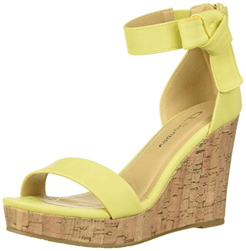 CL by Chinese Laundry Women's Blisse Wedge Sandal, Banana Nubuck, 7 M US