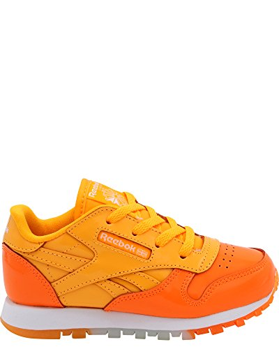 Reebok Kids Classic Leather (Little Kid) Fire Spark/Wild Orange/White 1.5 Little Kid M