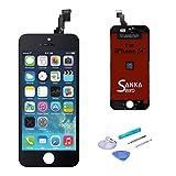 Sanka Ecran LCD pour iPhone 5C, Retina Tactile Écran Vitre Display Digitizer Kit de Réparation Complet - Noir (Free Outils...