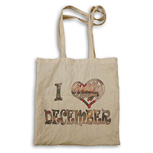 INNOGLEN Me encanta el tema de diciembre de Navidad bolso de mano...