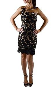 b052a9aab176 Matija Vuica Women's Leather Designer Cocktail Dress S Black ...