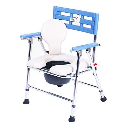 Jieer-C Ergonomische toiletstoel, inklapbaar, aluminiumlegering, verdikking, draagbaar, antislip, versterkt voor oudere vrouwen, zwangere vrouwen, thuis, badkamer, demonteerbaar si